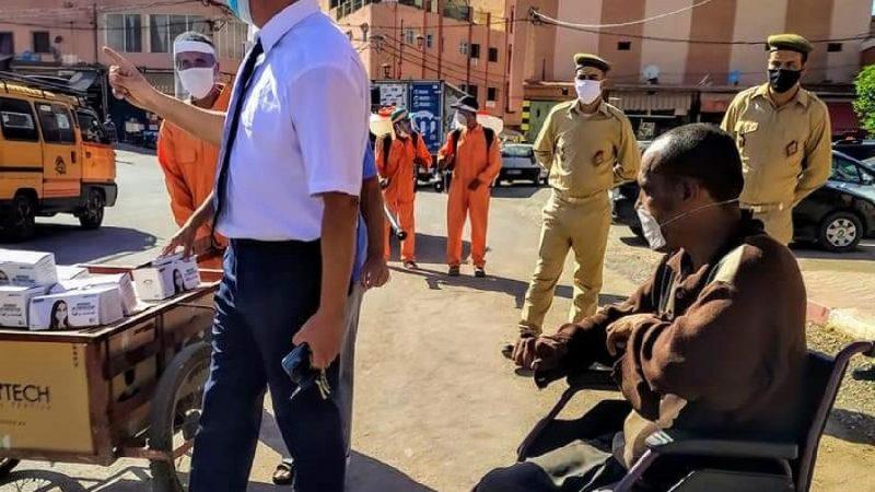 حملة تحسيسية بمدينة دمنات حول الوقاية من جائحة كوفيد 19