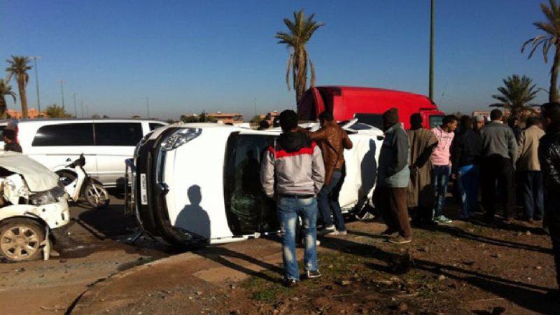 مصرع 8 أشخاص وإصابة 1804 آخرين في حوادث سير بالمدن المغربية خلال أسبوع