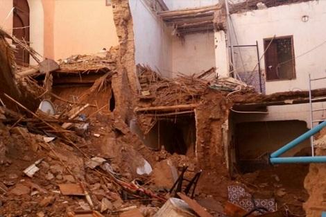 الرياح القوية تتسبب في انهيار منزلين في الدارالبيضاء