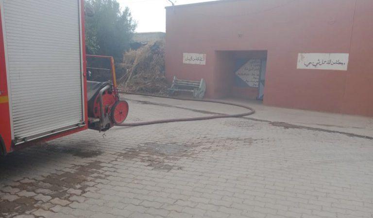 اندلاع حريق داخل حمام دار البر والإحسان بالداوديات دون تسجيل خسائر بشرية