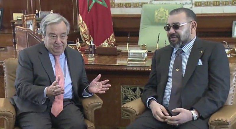 جلالة الملك محمد السادس، نصره الله، يجري اليوم، اتصالا هاتفيا مع الأمين العام للأمم المتحدة أنطونيو غوتيريش