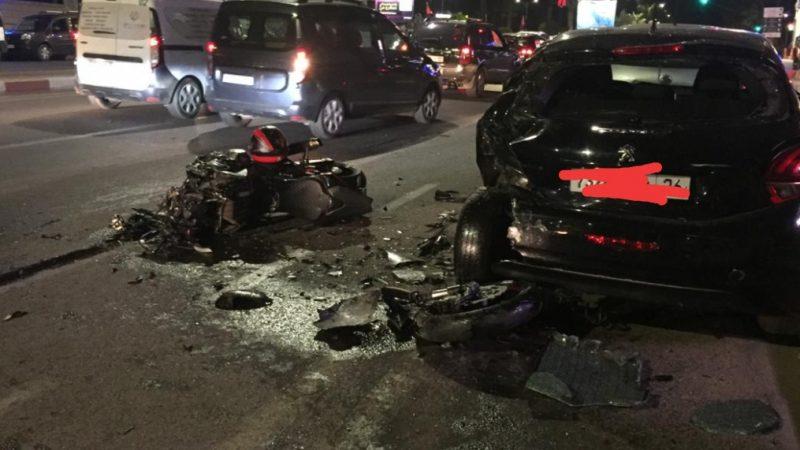 عاجل : حادث سير خطير بشارع عبد الكريم الخطابي