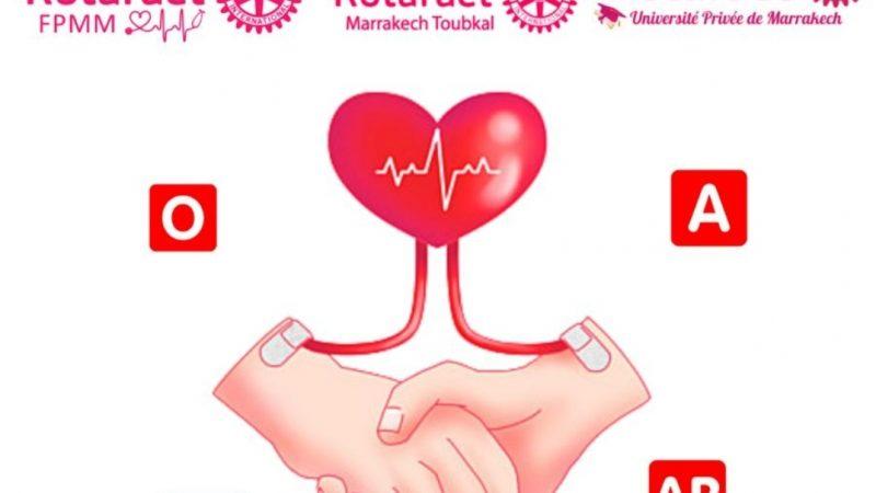 """""""روتاراكت"""" المغرب تنظم حملة وطنية للتبرع بالدم في 14 مدينة من بينها مراكش"""
