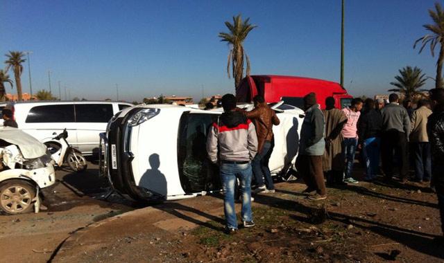 مصرع 13 شخصا وإصابة 1844 آخرين في حوادث سير بالمدن المغربية خلال أسبوع