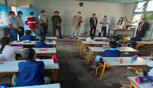 حملات تحسيسية بمخاطر كورونا تشمل مؤسسات تعليمية بقلعة السراغنة
