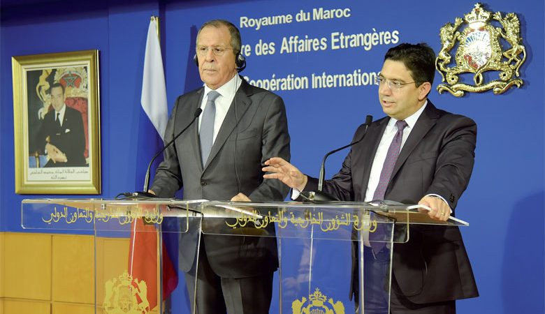 ناصر بوريطة يتباحث مع نظيره الروسي سيرغي لافروف القضايا الإقليمية والدولية