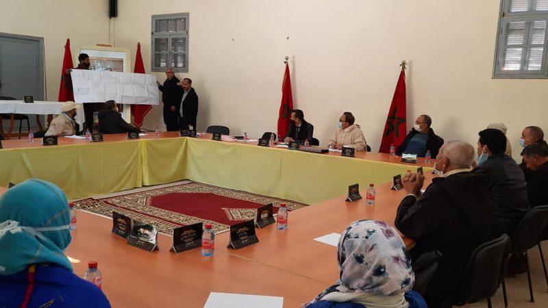 مجلس تديلي مسفيوة يصادق بالاجماع على نقاط جدول أعمال دورته الاستثنائية
