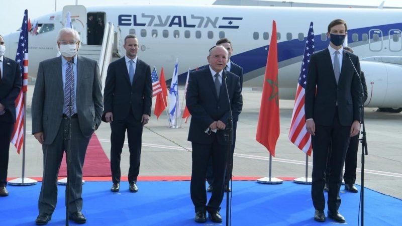 الرباط تستقبل زوال اليوم أول طائرة إسرائيلية قادمة من تل أبيب .