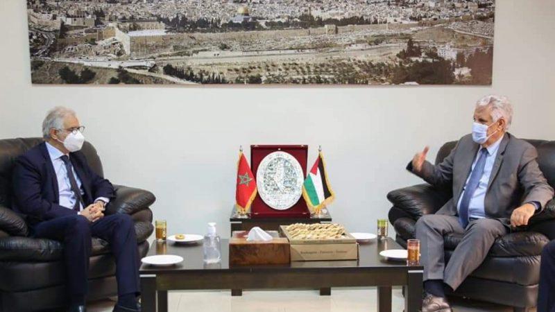 قيادة حزب الاستقلال في زيارة لسفارة دولة فلسطين لتأكيد الموقف المغربي الثابت والداعم للقضية الفلسطينية