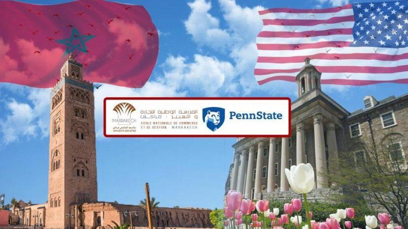 المدرسة الوطنية للتجارة والتسيير بمراكش أول بيزنس سكول مغربية تطور اتفاقية تعاون مع جامعة ولاية بنسلفانيا