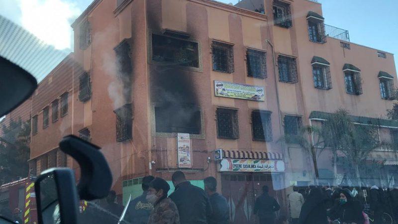 عاجل: اندلاع حريق مهول داخل مدرسة لتعليم السياقة بعين مزوار