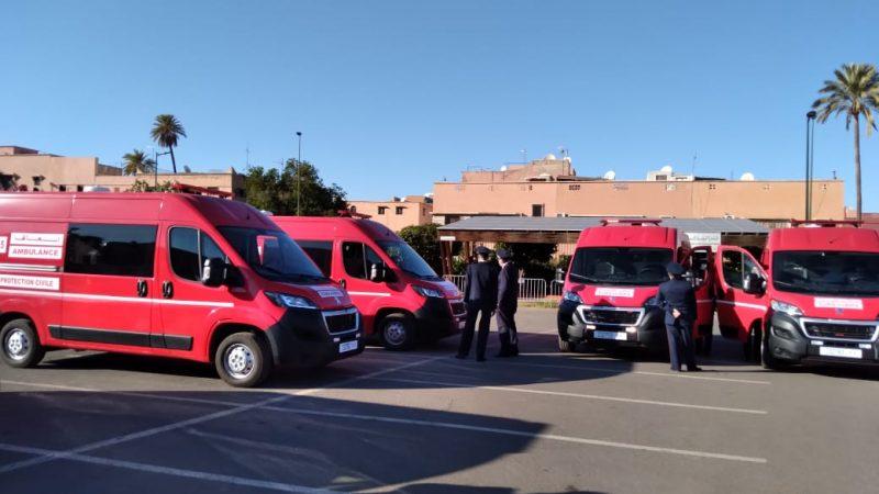 تزويد القيادة الجهوية للوقاية المدنية بمراكش ب20 سيارة إسعاف جديدة