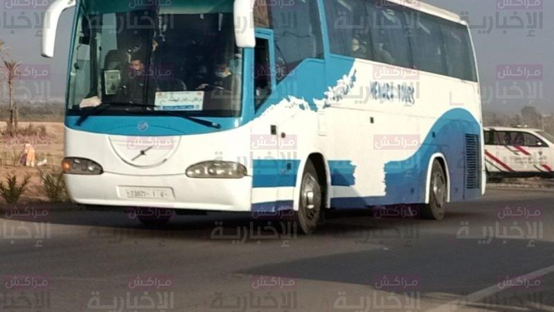 أمن مراكش يمنع حافلتين من مغادرة المدينة لعدم توفر الركاب على رخصة التنقل