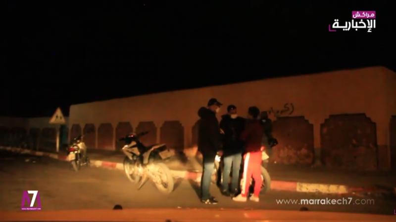 فيديو: حملة أمنية واسعة بالمحاميد لفرض قرار حظر التجول ليلا