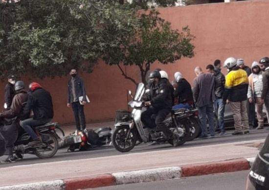 إصابة فتاتين على متن دراجة نارية في حادثة سير بشارع علال الفاسي