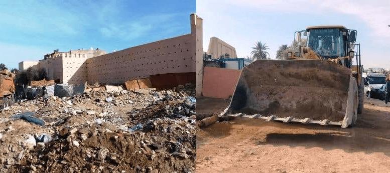 السلطات المحلية تحرر السور التاريخي بين باب دكالة وبوابة العيادي من مخالفات البناء