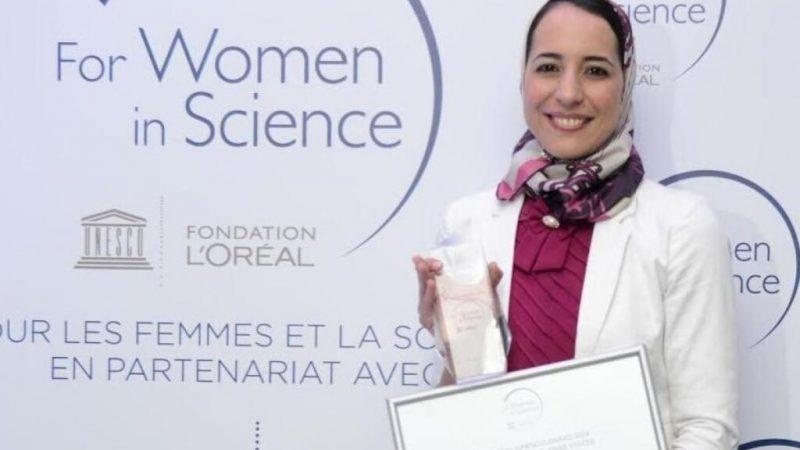 """الأستاذة بكلية العلوم السملالية بمراكش هاجر مصنف تتوج بجائزة """"ويمن تيك"""" العالمية"""
