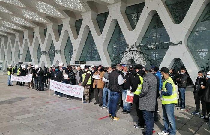 """مطار المنارة.. نهاية أسبوع على وقع احتجاجات عمال شركة """"سويسبور"""""""