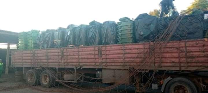 جماعة تسلطانت تتوصل بشحنة جديدة من حاويات الأزبال