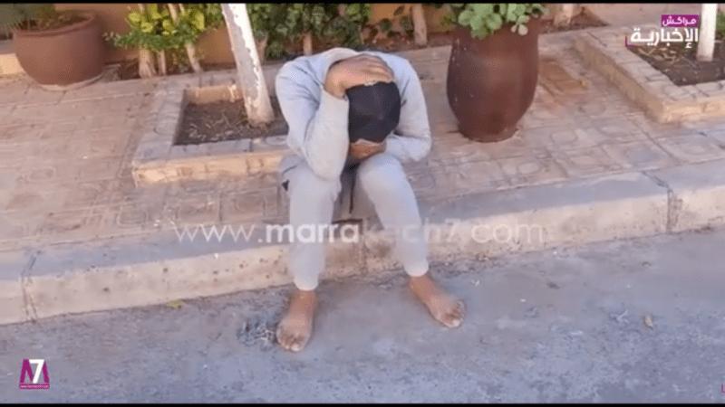 الفيديو: مواطنون يحاصرون لصا بحي الإزدهار