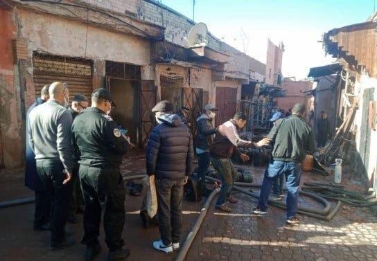 انفجار قنينات غاز يتسبب في حريق داخل دكان بحي باب الدباغ