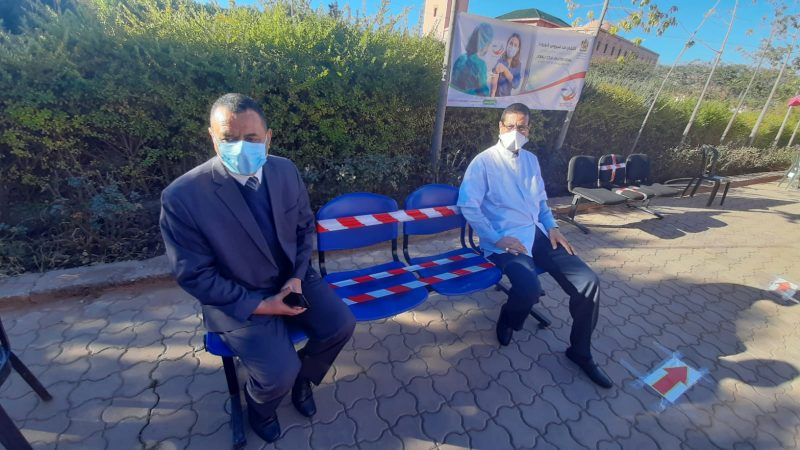 انخراط كبير للأطر الصحية لمستشفى محمد السادس بتحناوت في حملة التلقيح