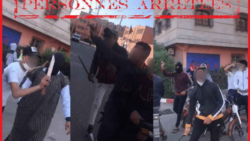 إيقاف 3 أشخاص روعوا أحياء بمراكش بالأسلحة البيضاء