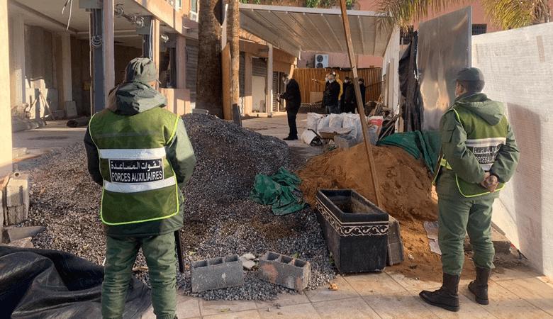 مراكش.. اٍصابة عون سلطة في عملية تحرير الملك العمومي بالحي العسكري
