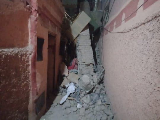 انهيار منزل يزرع الرعب وسط درب الحمام بمراكش