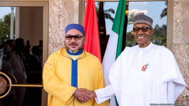 مواصلة انجاز خط الغاز  نيجيريا المغرب وانتاج مصنع للأسمدة ضمن مباحثات العاهل المغربي والرئيس النيجيري  محمد بوهاري خلال مكالمة هاتفية