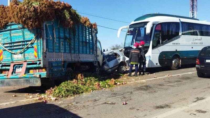 حادثة سير مروعة بمدخل مدينة قلعة السراغنة