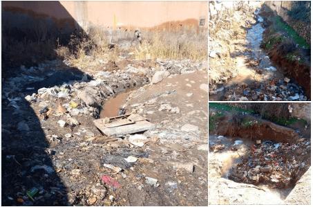 استياء عارم في صفوف سكان مركز اسني بسبب الصرف الصحي والحرق العشوائي للنفايات