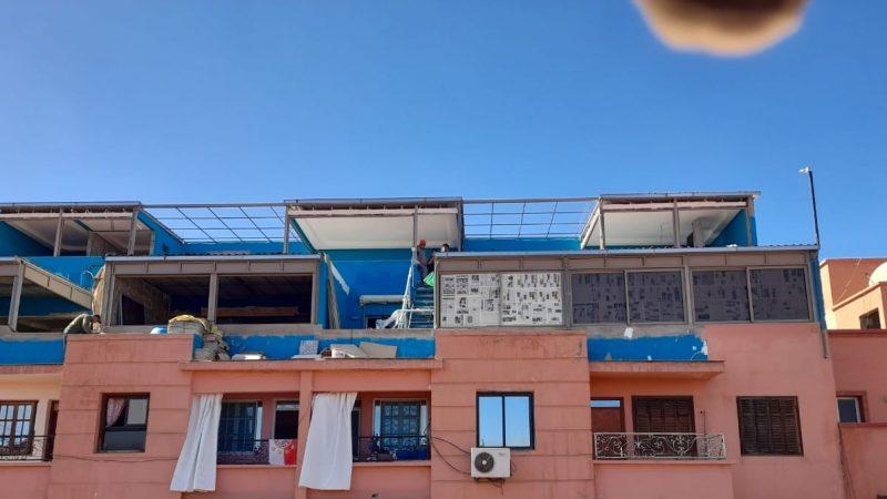 البناء غير المرخص والاعتداء على حقوق الملكية المشتركة يشتكي بمقدم حي الازدهار امتداد