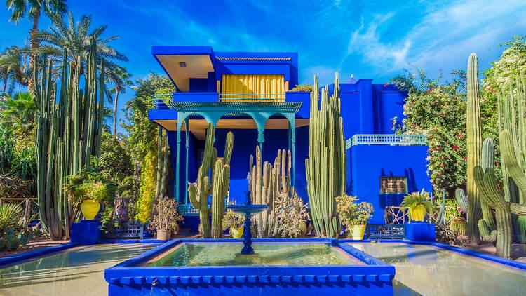 حدائق ماجوريل بمراكش ضمن أجمل الأماكن الملونة في العالم