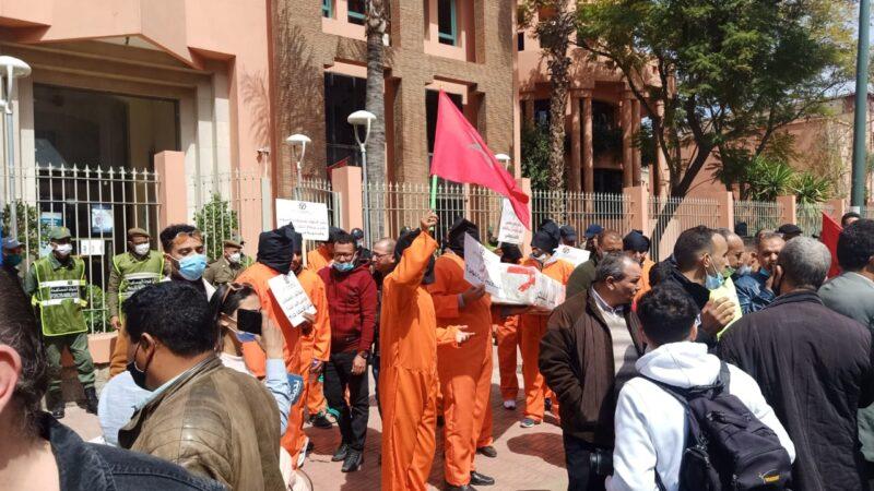 مسيرة احتجاجية حاشدة لمهنيي النقل السياحي بمراكش