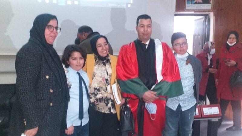 """الطالب الباحث و القاضي الملحق بوزارة العدل """"محمد جناح """" يحصل على شهادة الدكتوراه بميزة مشرف جدا"""