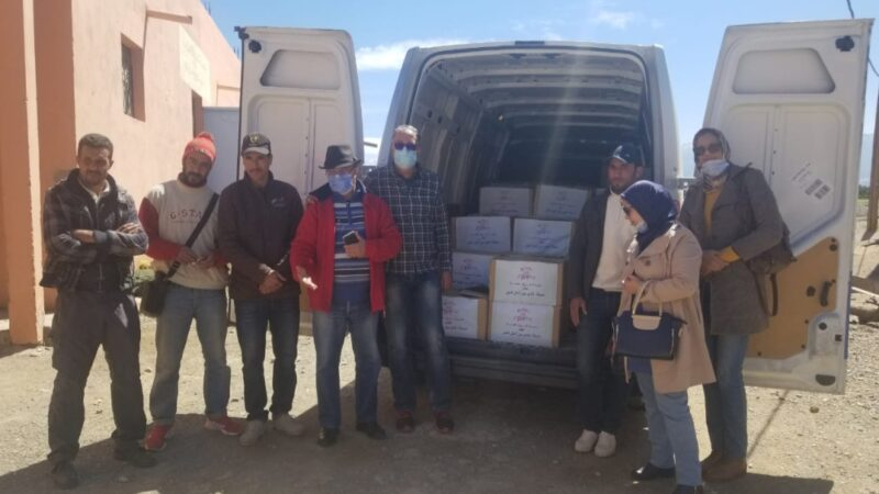 حملة الخير من اجل الغير مبادرة إنسانية تضامنية مع سكان امزميز