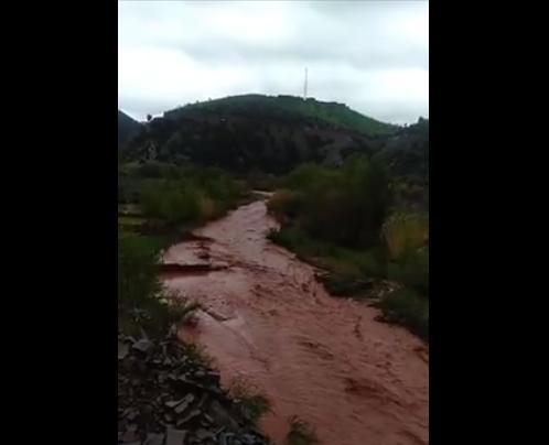 فيضانات بإقليم الحوز تقطع طرقا