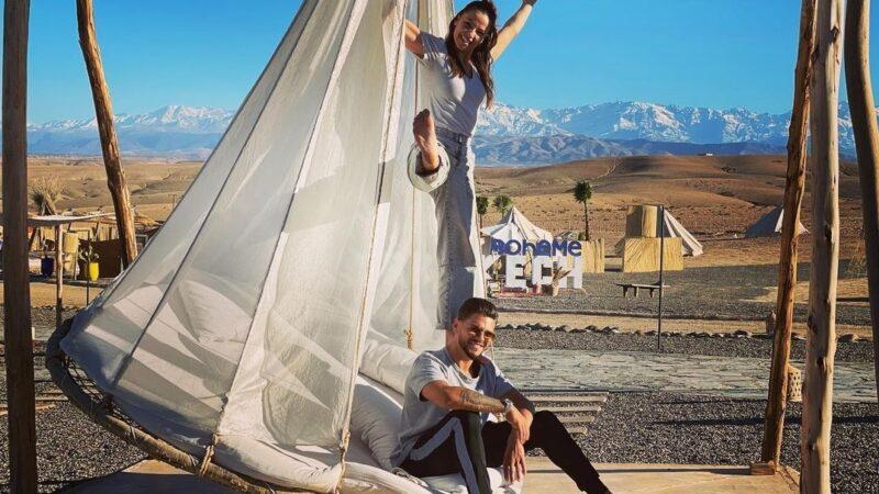 الممثلان الفرنسيان رايان بنسيتي وكاميلا لولوش يقضيان عطلتهما في مراكش