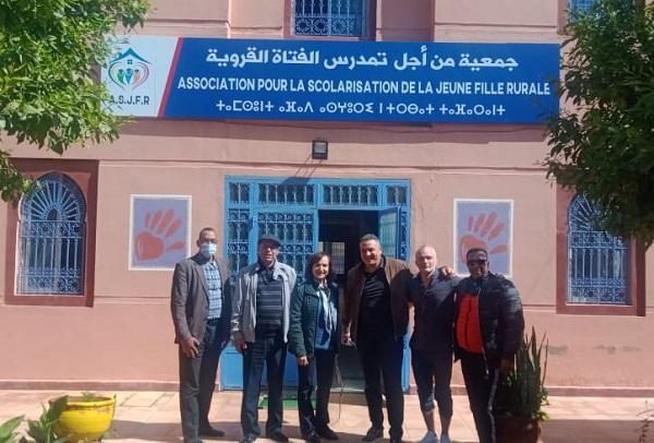 لقاء الأبطال ونشاط خيري بمقر جمعية تمدرس الفتاة القروية بمراكش