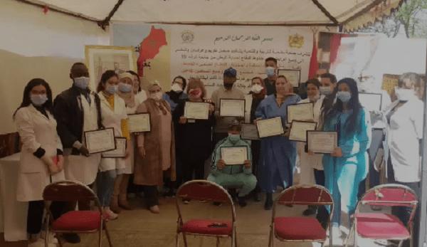 فعاليات جمعوية تكرم الأطر الطبية بالمركز الصحي القاضي عياض بمراكش