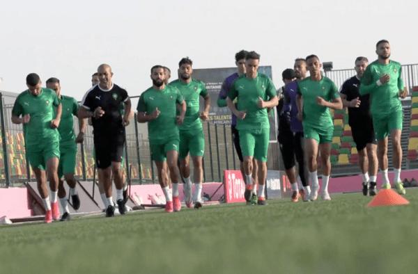 المنتخب المغربي يجري المران الأول بعد الوصول إلى موريتانيا