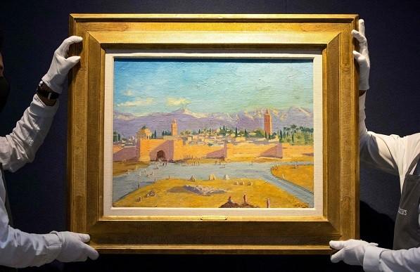 سعر لوحة الكتبية لوينستون تشرتل يتجاوز 8 ملايين يورو