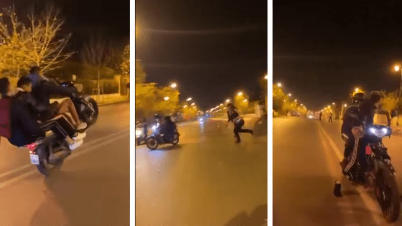 القاء القبض على أصحاب دراجات نارية اقتحمو حاجزا للشرطة