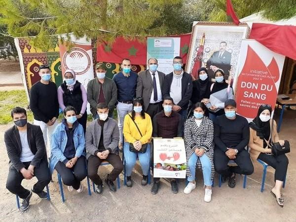 حملة للتبرع بالدم بالمركز الجامعي قلعة السراغنة تساهم بأزيد من 100 كيس