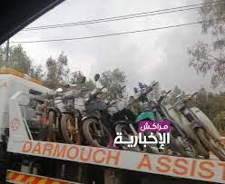 إقليم الحوز.. حملات أمنية تحجز مئات الدراجات النارية