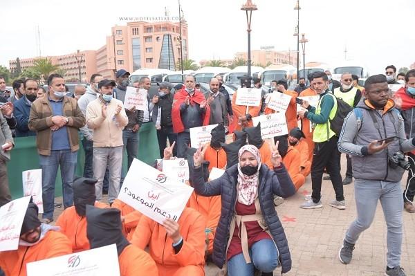 احتجاج وطني بالعاصمة الرباط لمهنيي النقل السياحي