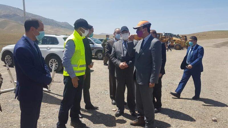 """زيارة وزارية للوقوف على أشغال بناء سد """"بولعوان"""" بشيشاوة"""