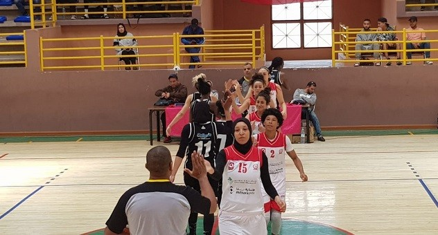 فوز كاسح لإناث الكوكب المراكشي لكرة السلة على حساب أولمبيك آسفي