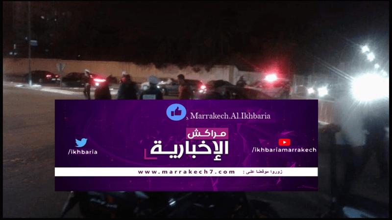 حريق يأتي على حافلة كانت في طريقها إلى مراكش
